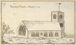 Moredon church in Surrey, 1754